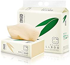 Bamboo Facial Tissues DELLBOO ORGANIC ECO-FRIENDLY TISSUES 110 Count, 3 Pack Natural Tree Free Tear Resistant Facial Tissue.