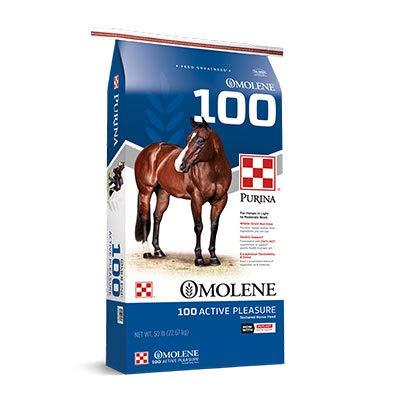 Purina | Omolene #100 Active Pleasure Horse Feed | 50 pounds (50 lb) Bag