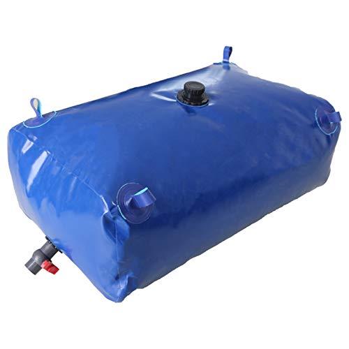 Réservoir de stockage d'eau de grande capacité, Réservoir de stockage d'eau flexible avec vanne d'arrêt, Réservoir d'eau léger pliable et durable Seau de jardin Collecteur d'eau de pluie