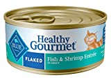 REAL FISH FIRST: BLUE adult wet cat food features high-quality protein from real fish and shrimp to support healthy muscle maintenance FLAVORFUL FLAKED ENTRÉE: Feed BLUE's delicious and healthy canned cat food with a flaked texture NATURAL CAT FOOD: ...
