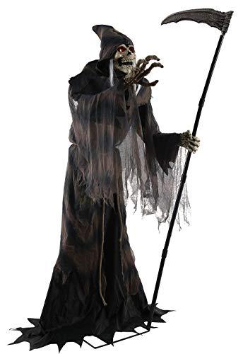 Lonestar Wholesalers 6ft Lunging Reaper Animated Prop Lifesize Halloween Haunted House Decoration Animatronics