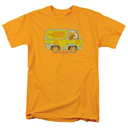 Scooby-Doo Mystery Machine Cartoon T Shirt & Stickers (Small) Gold