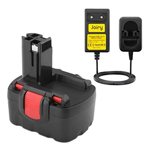 Joiry 14.4V 3500mAh Ni-MH BAT040 Batería con Cargador para Bosch 2607335275 2607335533 2607335534 2607335711 2607335465 2607335685 2607335678 2607335276 BAT038 BAT040 BAT041 BAT140 BAT159 13614