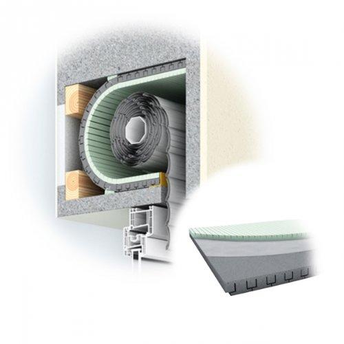 DIWARO® Rolladenkasten-Dämmung, 30 mm Dämmstärke, Länge 1000 mm, Jalousiekasten- Isolierung, Rolladendämmung, Wärmedämmung | ROKA THERMO FLEX | 30 mm | 500 mm, 650 mm oder 790 mm Breit (ROKA THERMO FLEX | 30 mm | 790 mm Breit)