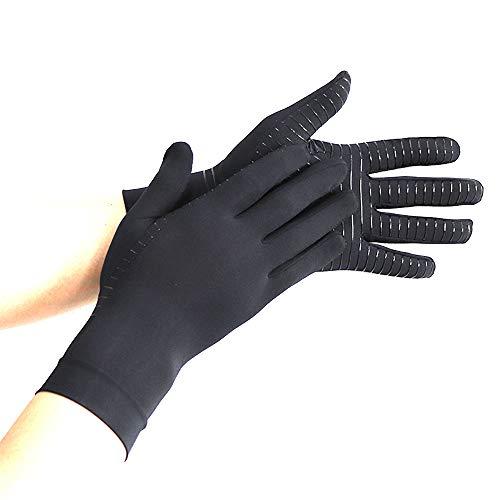 Benrise Gaming Handschoenen Siliconen Grip Anti-Slip Anti-Sweat Stoma Ademend Ontwerp Volledige Vinger Handschoenen Perfect Comfortabele Fitting, Anti Arthritis Het verstrekken van warmte en compressie, Het bevorderen van genezing M