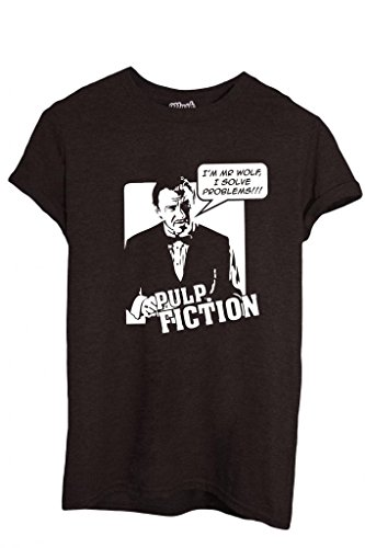 MUSH T-Shirt MR Wolf I Solve Problems Pulp Fiction-Film by Dress Your Style - Uomo-L