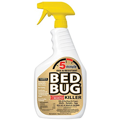 HARRIS 5 Minute Bed Bug Killer, Odorless and Non Staining Formula (32oz)