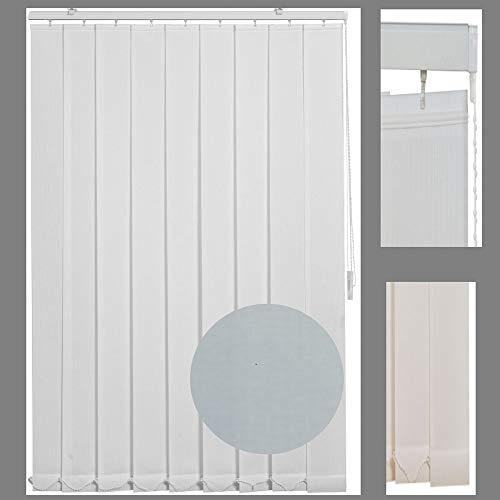 generisch Lamellenvorhang Vertikal-Jalousie Schiebegardine GRAU_ Höhe 150 cm, 180 cm, 250 cm_ selbst kürzbar mit Schere (250 x 250 cm)