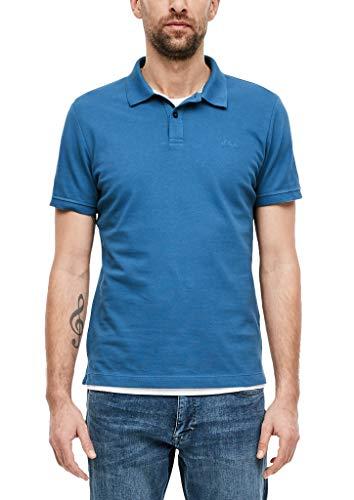 s.Oliver Herren 03.899.35 Poloshirt, Blau(blue), Medium
