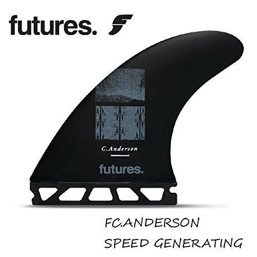 FUTURE FINS フューチャーフィン B/STIX3.0 V2 BLACKSTIX FC.ANDERSON クレイグ・アンダーソン (Center Fin: Height: 4.56 in Base: 4.54 in)