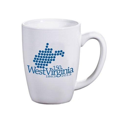 West Virginia 150th Birthday Official Commemorative Keepsake Coffee Mug. Designed for WV Statehood Sesquicentennial Celebration June 20, 1863 - 2013.