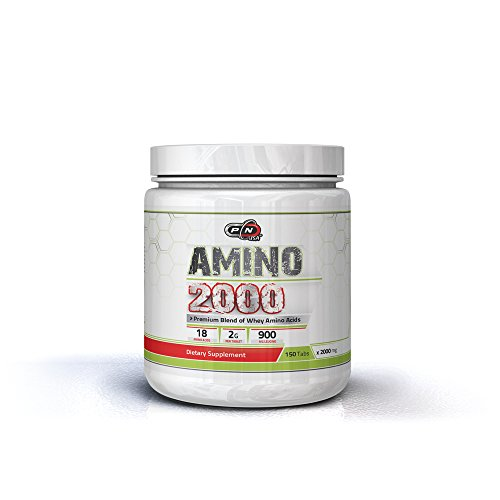 Pure Nutrition Whey Amino Acid 2000 mg Tablets Blend|25 50 100 Servings|Essential Leucine Isoleucine Valine BCAAs|18 Different Amino Complex|Recovery Workout Branched Chain Amino Acids Supplement