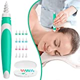 Ainviata Spiral Ear Wax Removal - Soft Silicone & Safe q Grips Earwax Remover, Upgraded Ear Wax Removal Tool for Adults & Kids, Premium q-Grips Earwax Remover with 16 Replacement Tips