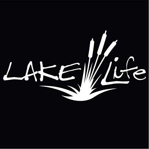 Lake Life Vinyl Decal Sticker | Cars Trucks Vans SUVs Walls Cups Laptops | 7 Inch Decal | White | KCD2779
