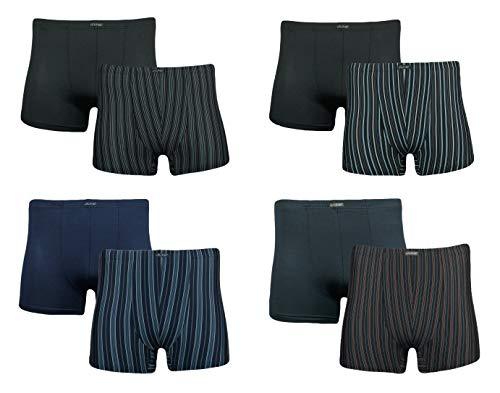 J-Line 4 er Pack Herren Retroshorts Shorts Boxershorts Unterhose Männer Trunk Boxer, Größe:XL, Farbe:Grau