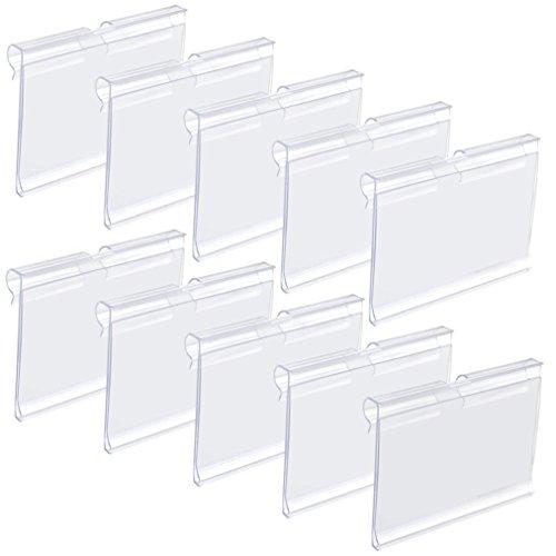 Baotongle – Soporte de plástico para etiquetas (50 unidades), color transparente