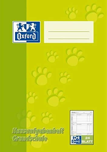 Oxford 100057952 Hausaufgabenheft - A5, 24 Blatt, sortiert