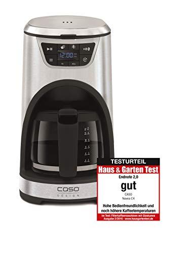 CASO NOVEA C4 Design Filter-Kaffeemaschine, 1000 Watt, Brühtemperatur ca. 96°C, für 12/6 Tassen, LED-Display