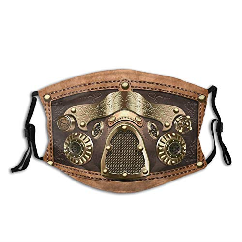 Steampunk 1 Mask Reusable and Washable Cloth Face Mask for Women Men Adult&Teens with Filters