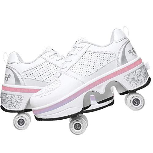 Modway Patines para Niños, Patines 2 en 1 Patines en Línea Zapatos...