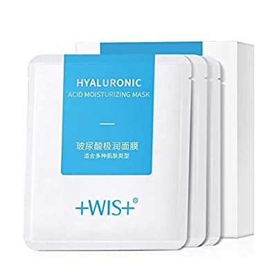 WIS Hyaluronic Acid Essence Full Face Facial Mask Sheet,Deep Hydrating Anti-Aging Serum Moisturizing Face Mask for Dull Dry Skin Care,Anti-Wrinkle & Fine Lines,10 Pack from Guangzhou Muke Biotechnology Co.,Ltd.