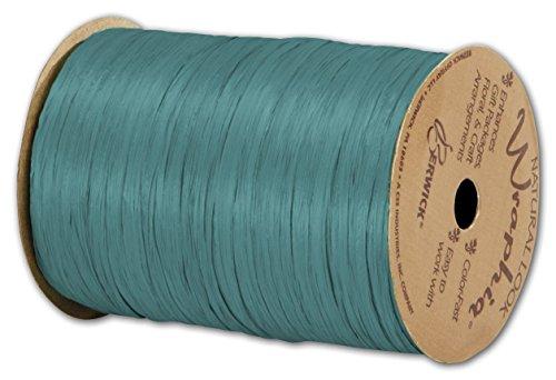 Matte Wraphia Teal Ribbon, 1/4' x 100 Yds (3/Pack) - BOWS-74900-33