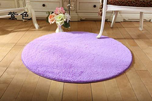 KEAINIDENI toiletmat massief zacht badtapijt tapijt, ronde 1 stuks antislip badmatten tapijt in het toilet, mat tapijten voor badkamer diameter 100cm Zise5