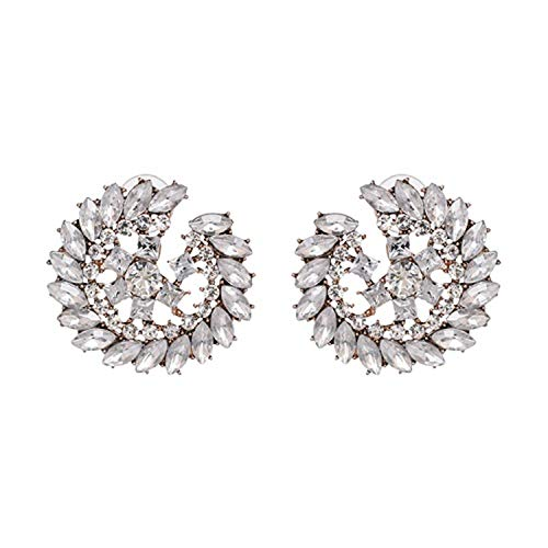 Presock Pendientes Mujer,Aretes Good Quality Wholesale New Vintage DROPS Earrings Fashion Women Statement Crystal Dangle Earrings For Women 51480-WH