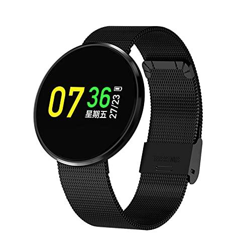 QAK CF006H Smartwatch Pulsera Deportes Reloj A Prueba De Agua Ratón Cardíaco Monitor De Sueño Monitor De Sueño Rastreador De Fitness Touchpad Smartband Presión Arterial,E