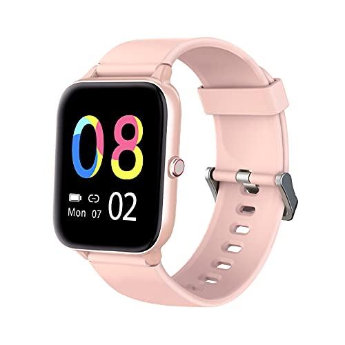 IOWODO R3Pro Smartwatch Donna Uomo Orologio Fitness 1,54   Full Touch Impermeabil IP68 Cardiofrequenzimetro Contapassi Cronometro modalità Nuoto Activity Tracker Smart Watches per Android iOS