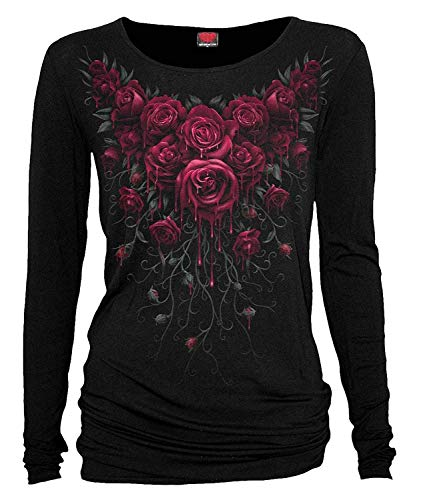 Spiral Direct SANGRE ROSA Alternativa Ls Top Holgado - Negro, UK 8 (S)