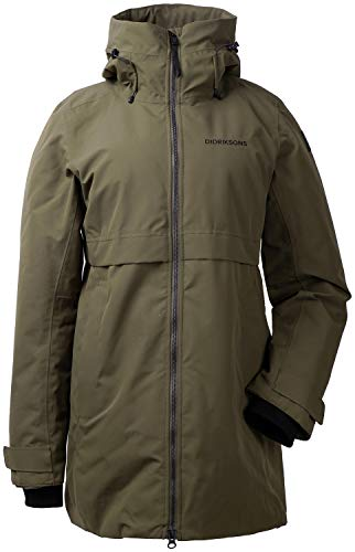 Didriksons Helle Parka 2 Women - Schlichter, Warmer Mantel für den Winter, crocodile green,  38