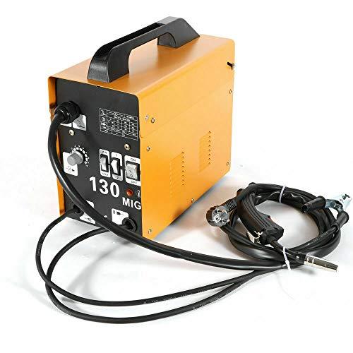 MIG-130 Máquina de soldar 50-120A Soldador de electrodo eléctrico, con máscara de...