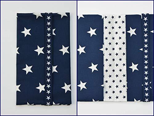 Windeltasche Wickeltasche | große Sterne blau weiß maritim | Baby Junge boy | Geburtsgeschenk Mamageschenk, baby shower