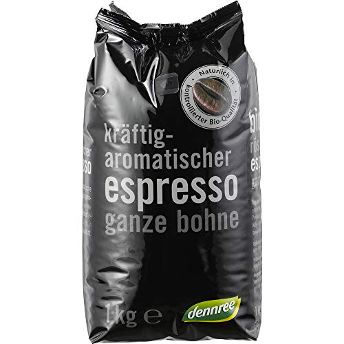 dennree Espresso, ganze Bohne (1 kg) - Bio