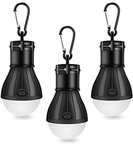 Linkax Lámpara Camping LED,Linterna para Camping,[3 Unidades] Portátil Bombilla Tienda de Camping,Luz...