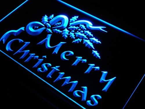 ADVPRO Merry Christmas It is very popular Tree Decor LED Neon 16 x 24 Inc Brand Cheap Sale Venue Sign Blue