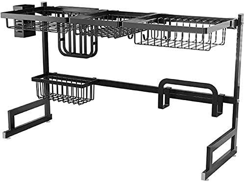 Cutlery Racks Kitchen Shelf, Kitchen Cutlery Tray Shelves for Dishes Shelves for Dishes Shelves for Dishes in Stainless Steel Shelves for Dishes, Black, 85Cm