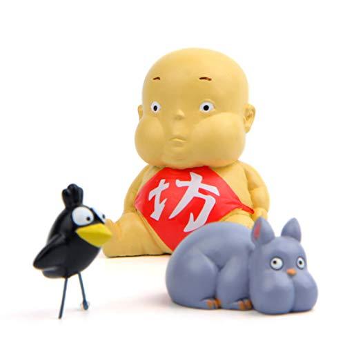 3 Unids / Set Anime Spirited Away Fat Baby Figura De Acción De Juguete Mini Modelo De Ratón...