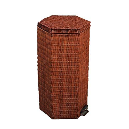 TLMYDD plastic prullenbak met stuur in prullenbak kantoor keuken of slaapkamer rotan prullenbak