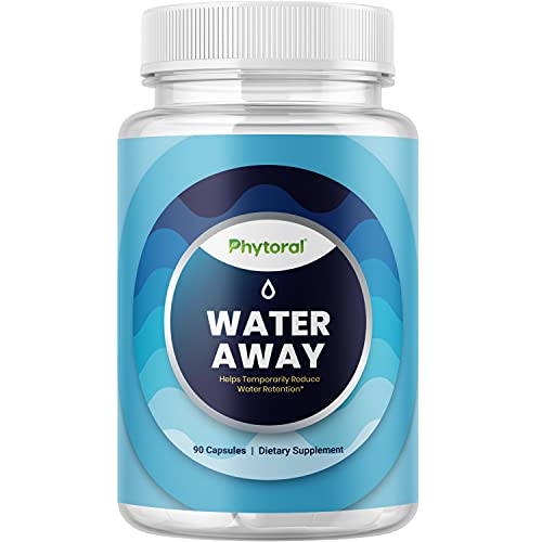 Water Away Pills and Diuretic Pills - Water Retention Pills and Water Pills with Dandelion Leaf Herbal Green Tea Extract Juniper Berry and Vitamin B6 - Kidney Cleanse Water Pills for Men and Women
