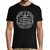 Photo de Closset VRP Le Mythe La Légende   T-Shirt Noir Homme Métier Humour Fun et Drôle - Tshirt Idéal pour idée Cadeau Anniversaire, collègue Travail, fête des pères, Noël 3XL