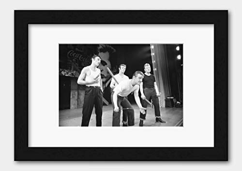 Grease - Members of the Cast at Coventry Theatre May 1973 Print Black Frame White A3 (29.7x42cm)