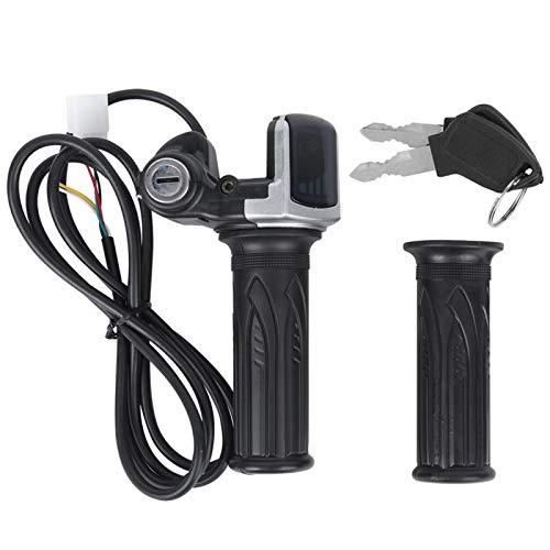 Empuñadura de Acelerador multifunción Indicador de batería de cantidad eléctrica Cerradura de Puerta eléctrica 36V para Scooter de Bicicleta eléctrica