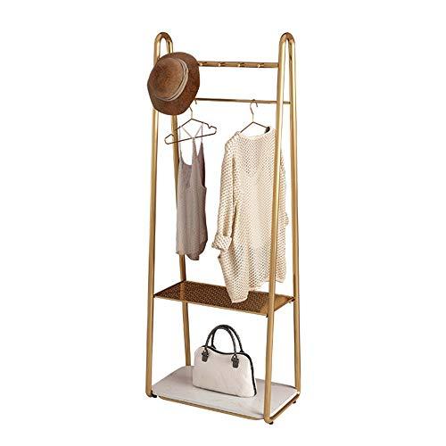 Estante de exhibición de ropa, barra de ropa antideslizante independiente, con marco inferior, perchero de hierro creativo, adecuado para centros comerciales familiares, gran capacidad de carga
