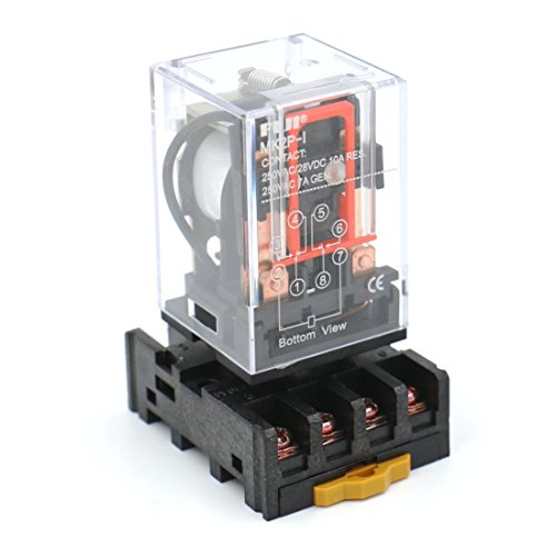 Baomain Power Relay MK2P-I AC 110V Coil DPDT 8 Pin with Plug-in Terminal Socket