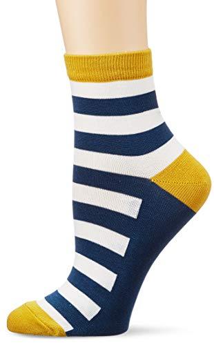 Tom Joule Damen Brilliant Bamboo Embriodered Lässige Socken, Bienenstreifen, One
