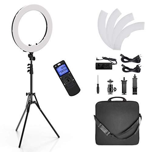 Pixel Ring Light, 19inch Selfie Ring Light with Wireless Remote Control, Dimmale Color Temperature for Camera and Smartphone, Perfect for YouTube, Make-up, Portrait, Online Teaching, Photography