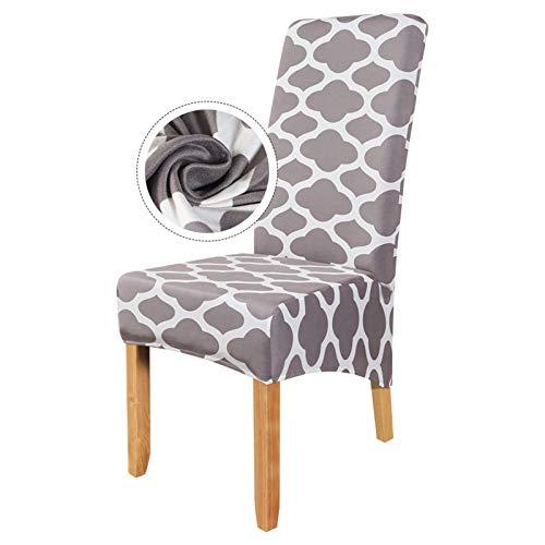 YAYANG Chair Cover Elastische Esszimmerstuhlabdeckung Stretch Slipcover Protector Anti-Dust-Hausmöbel Decor 1/2/4/6 stücke Esssitzabdeckung Casual (Color : 12, Specification : 4PCS)