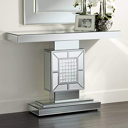 "Medina 44"" Wide Mosaic Mirrored Console Table - Studio 55D"